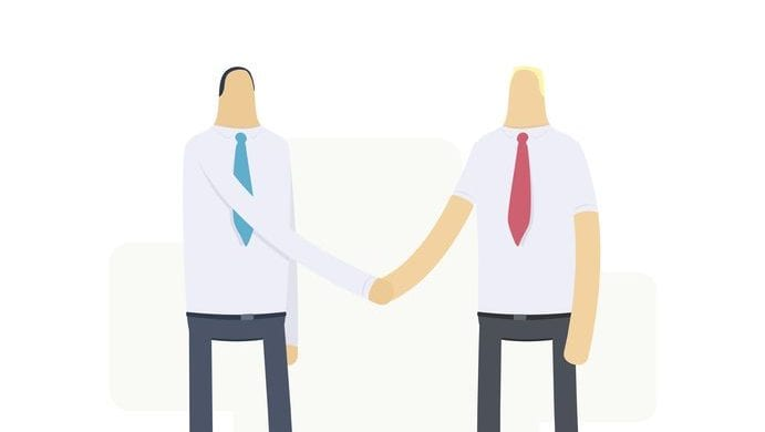 16550130 - handshake of two businessmen