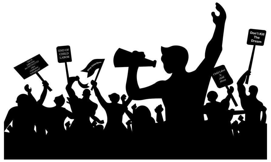 קיבוצי, שביתה, הפגנה