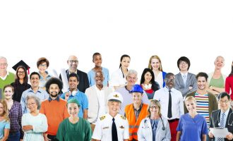 Group of Diverse Multiethnic People with Different Jobs