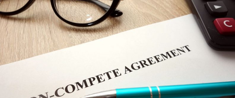 98089109 - non-compete agreement document for filling and signing on business competition concept