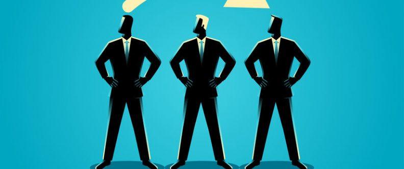 Business concept illustration, job rotation symbol